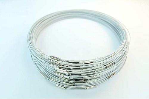 Baza siliconata colier Alb 445mm