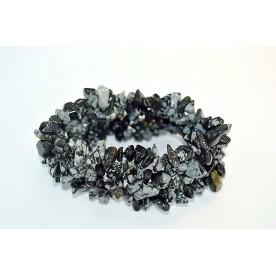 Bratara chips lata 30mm Obsidian Fulg de Nea