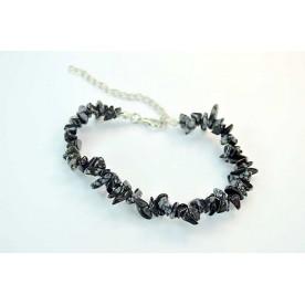 Bratara incuietoare chips Obsidian Fulg de Nea