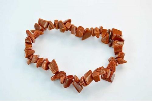 Bratara simpla chips Goldstone Rosu