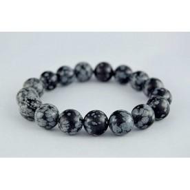 Bratara 12mm Obsidian Fulg de Nea