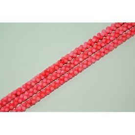 Margele Coral Poros Roz opturi 8mm