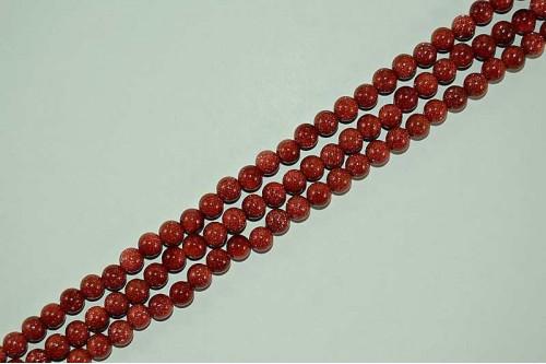 Margele Goldstone Rosu 6mm