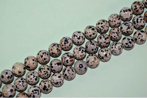 Margele Jasp Dalmatian 12mm
