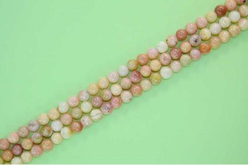 Margele Opal Roz 6mm
