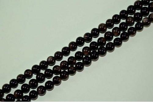 Margele Obsidian Auriu 8mm