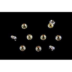 Distantiere cu rhinestone 6mm auriu (10buc.)