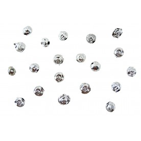 Distantiere trandafir oval 6mm - argintiu
