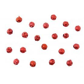 Distantiere trandafir oval 6mm - rosu