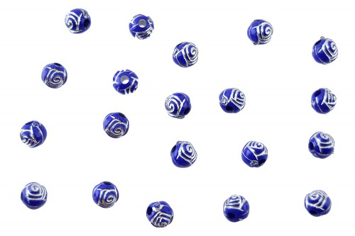Distantiere trandafir sferic 6mm - indigo