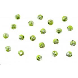 Distantiere trandafir sferic 6mm - lime
