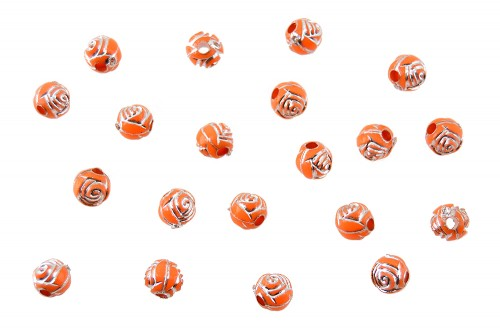 Distantiere trandafir sferic 6mm - portocaliu