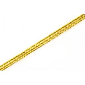 Margele metal stardust - auriu tip1 4mm