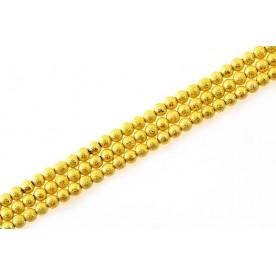 Margele metal stardust - auriu tip1 8mm