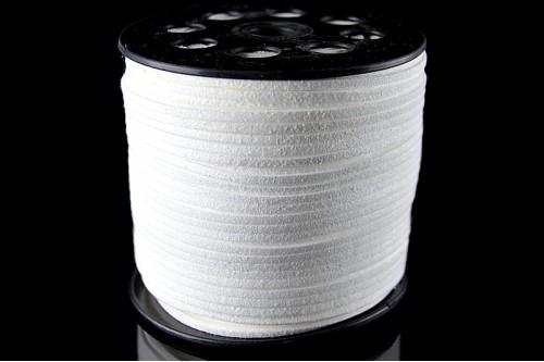 Snur suede 3x1mm (1metru) - alb
