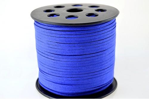 Snur suede 3x1mm (1metru) - albastru