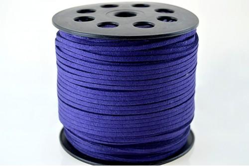Snur suede 3x1mm (1metru) - indigo