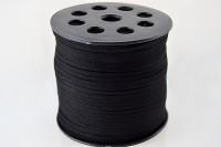 Snur suede 3x1mm (1metru) - negru