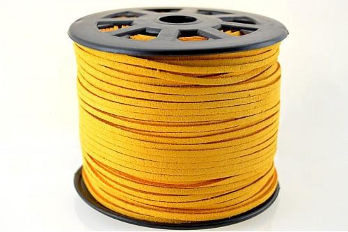 Snur suede 3x1mm (1metru) - portocaliu