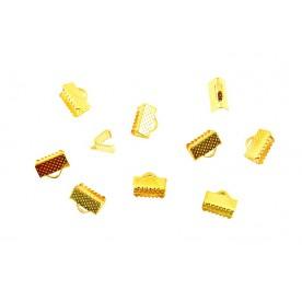 Terminatii snur Suede 10mm auriu (10buc.)