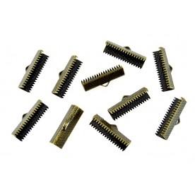 Terminatii snur Suede 22mm bronz (10buc.)