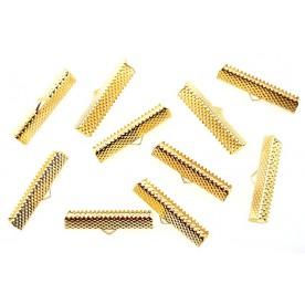 Terminatii snur Suede 30mm auriu (10buc.)