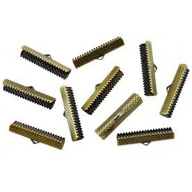 Terminatii snur Suede 30mm bronz (10buc.)
