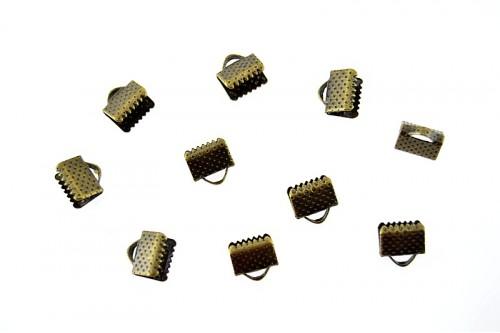 Terminatii snur Suede 08mm bronz (10buc.)