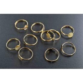Baze inele 19mm auriu (10buc.)