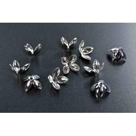 Capacele ghiocel 16mm argintiu-inchis (10buc.)