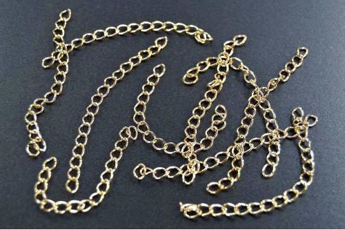 Extensii bijuterii 75mm auriu (10buc.)
