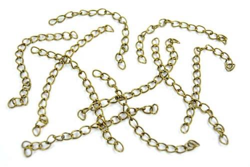 Extensii bijuterii 75mm bronz (10buc.)
