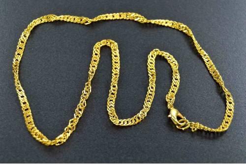 Lant cu inchizatoare 53cm auriu