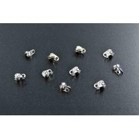 Terminatii snur 7,5mm argintiu-inchis (10buc.)