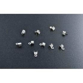 Terminatii snur 7mm argintiu-inchis (10buc.)
