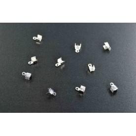 Terminatii snur 7mm argintiu-deschis (10buc.)