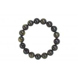 Bratara 12mm Obsidian Auriu