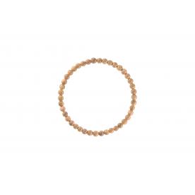 Bratara 4mm Goldstone Rosu