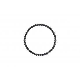 Bratara 4mm Turmalina Neagra
