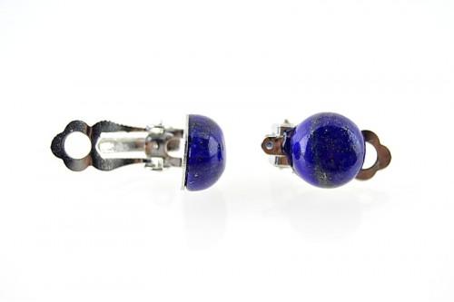 Cercei clips rotunzi Lapis Lazuli