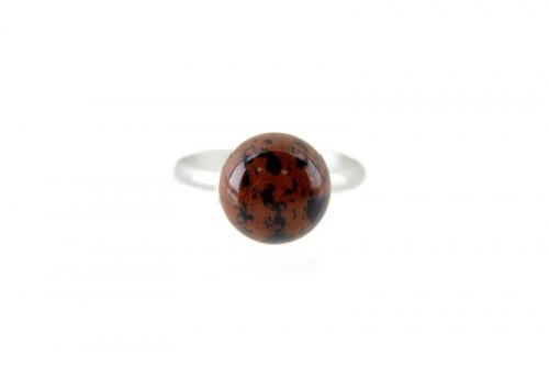 Inel rotund Obsidian Mahon