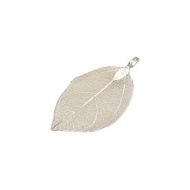 Pandantiv frunza silver light