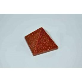 Piramida 19mm Goldstone Rosu