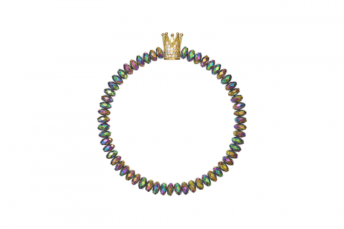 Bratara Power Crown 6mm rondele Hematit Multicolor