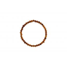 Bratara 4mm Chihlimbar Coniac