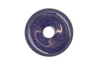 Pandantiv Piatra Pi Goldstone Albastru 34mm