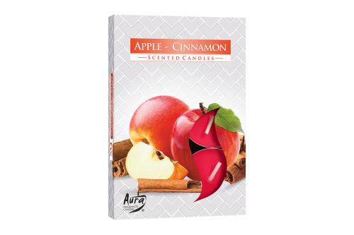 Lumanari parfumate pastila 4h (6buc.) Apple-Cinnamon (Scortisoara-Mar)