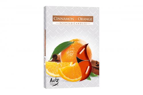 Lumanari parfumate pastila 4h (6buc.) Cinnamon-Orange (Portocala-Scortisoara)