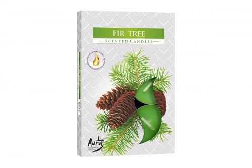 Lumanari parfumate pastila 4h (6buc.) Fir Tree (Brad)