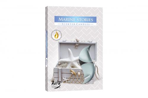 Lumanari parfumate pastila 4h (6buc.) Marine Stories (Povesti Marine)
